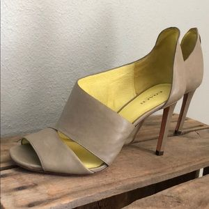 Gray Coach Leather Heels